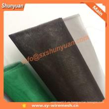 ISO9001 Red de alambre verde, pantalla de aluminio de la ventana de la aleación, negro