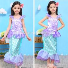 Nuevo diseño de los niños cosplay dress sirena niños vestido de niña princesa