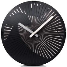 Современные черные настенные художественные часы