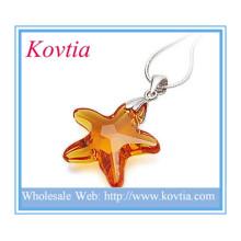 Pendentif en forme de étoile en cristal de taille haute pour collier