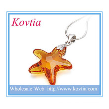 HIGH end crystal north star shape pendant for necklace