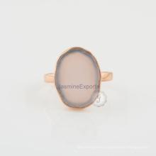 Pink Chalcedony Gemstone 925 Silver Fashion Engagement & Wedding Ring