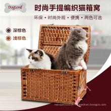 China fornecedor atacado vime pet lidar com caverna para gato
