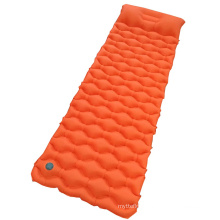 Wavy Inflatable Mat With Pillow Outdoor Camping  Sleeping Pad With High Quality TPU Laminated 40D Nylon Fabric