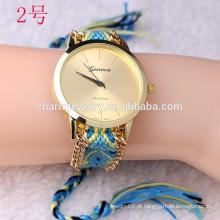 Relógio de pulseira mais recente com faixa de tecer / relógios de senhora para as mulheres BWL23