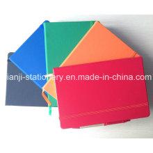 Cuaderno de cuero de la PU con la pluma (N1001)