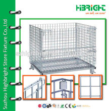 steel wire foldable storage cage for store use