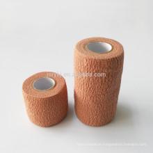 Médico tipos diferentes cor marrom não tecido crepe bandagem elástica produto de primeiros socorros