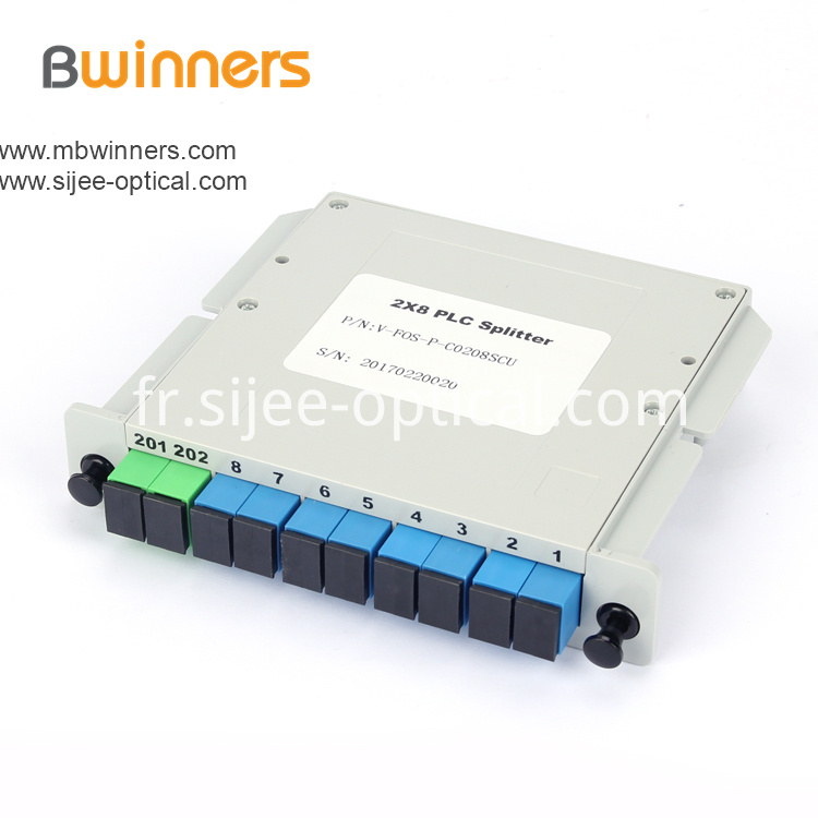 Insertion Module 2x8 Plc Splitter Scapc Connector