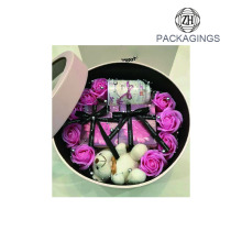 Decorative wedding round flower packaging box