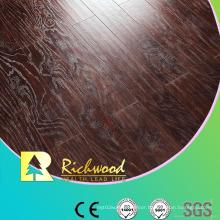 Commercial 8.3mm HDF AC3 Embossed Elm V-Grooved Laminated Flooring