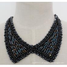 Moda jóias de pérolas de cristal chunky colar colar (je0056-2)