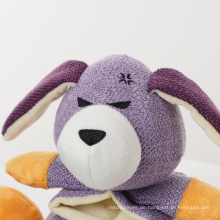 Umweltfreundliches Quietschendes niedliches Plüschhund-Kauspielzeug