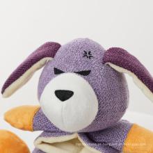 Brinquedo para mastigar cachorros de pelúcia fofinho e estridente ecológico