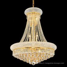 Luxe petit cristal empire salon lustre lumière or pendentif lampe 71006