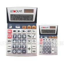 Calculatrice à 12 chiffres de Dual Power Office avec fonction facultative En / Jp (LC206T)
