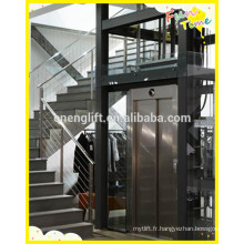 Traction drive low cost villa lift