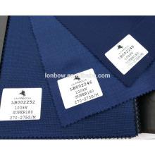 Material de lã de textura macia de alta qualidade adequando tecido estoque de super 180