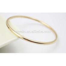 Barato rodada simples bracelete pulseira de ouro design