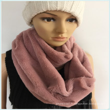 Black White Pink Fashion Jeune cou PV Fleece Tube Echarpe Factory