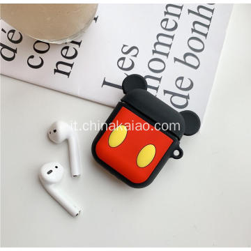 Cartoon Design per Airpod Cover con custodia protettiva portatile in silicone a catena