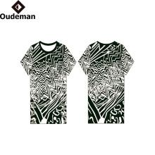 Camiseta de encargo en blanco del ajuste del dri del algodón de encargo 2017 al por mayor