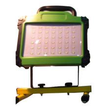 Luz de inundação de 10W LED recarregável