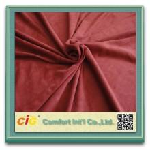 100% tela de gamuza de poliéster para ropa de tela de gamuza de tapicería