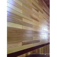 Revestimento de madeira de cedro vermelho