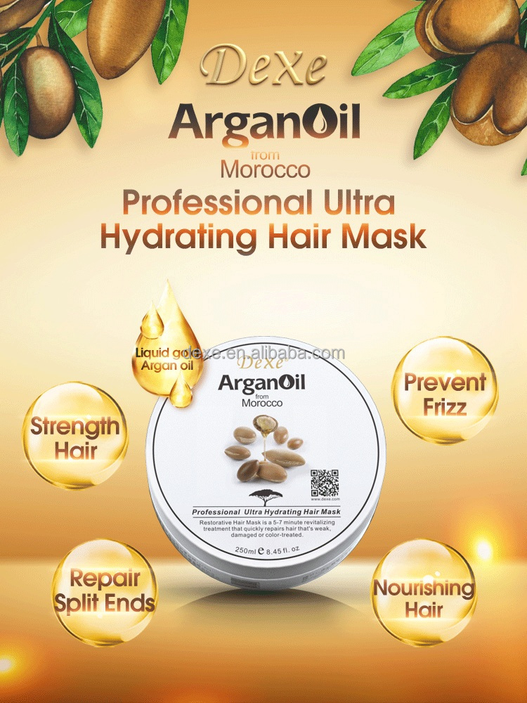 hot sale top Dexe /high quality hair growth treatment argan oil hydrating hair /for women and men