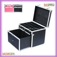 Черный легкий портативный Алюминиевый ногтей Ящик для инструментов с ящиком (SACMC015)