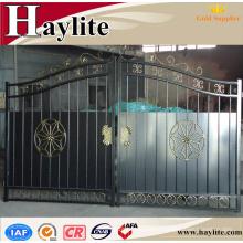 diseños principales de la puerta del tubo cuadrado del hierro de la casa para los hogares