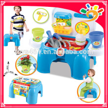 Gardening tools kids toy cabinet receive a chair