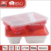 Essen Klassenstufe PP Material 3-Fach Kunststoff Lebensmittel Lagerbehälter