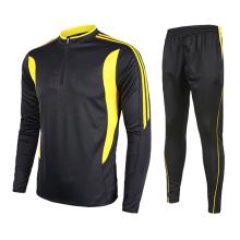 Hign качество dri-пригонки мужская обычная с длинным рукавом футбол униформа Джерси с длинным рукавом рубашка