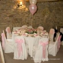 Дешевые и высокого качества 100% полиэстер скатерть для свадьбы banquet отель
