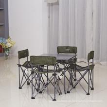 Tabela e cadeiras de acampamento novas de alta qualidade do piquenique do projeto ajustadas acampando