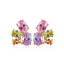 Fashion Zircon Stud Earring (23811)
