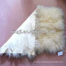 placa de piel de cordero tíbet cordero de Mongolia color blanco natural