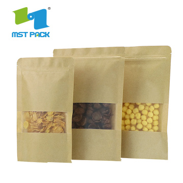 Nuts Packing Composite Snack Bag med fönster
