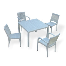 PE Rattan Outdoor Table and Chair Set, Comfortable Garden