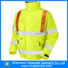 Kundenspezifische Bauarbeiten tragen feuerhemmende Feuerwehrjacke mit Reflektor