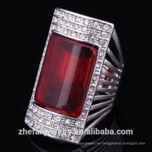 Anillo de compromiso egipcio Diseño con gemas Anillo de joyería cristalino para mujeres Anillo de joyería con rodio es su mejor opción