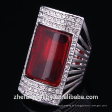 Conception de bagues de fiançailles égyptiennes avec des bijoux en cristal de pierres précieuses pour les femmes Les bijoux plaqués rhodium est votre bon choix