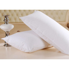 Almohada de algodón blanco sólido al por mayor del hotel