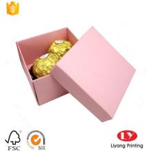 Boîte d'emballage de cadeau de chocolat de papier d'art pliable