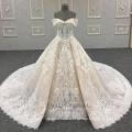 2018 Новый Свадебное Платье Принцесса Кружева Свадебное Платье На Заказ В Китае