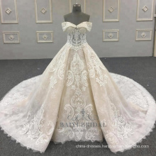 2018 New Wedding Dress Princess Lace Bridal Dress Custom Made In China