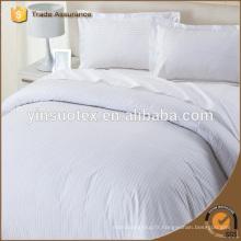 Draps de lit d'été blanc 100% coton de haute qualité