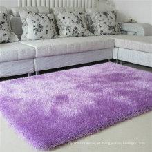 Plain Coloured Fluffy Silk Carpet (violet)